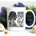 Ruth Bader Ginsburg Never Underestimate The Power Of A Girl With A Book RBG Mug Notorious RBG Ruth Bader Ginsburg Mug 1933-2020 Rbg- PE110 KMLN0Q