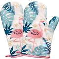 1 Pairs Cotton Heat Resistant Oven Mitts for Cooking or Baking,Oven Mitts and Pot Holders (White)