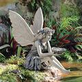 Sitting Fairy Statue,Angel Garden Figurine,Garden Ornament Sitting Magical Fairy,Sitting Elven Garden Figures,Resin Crafts Landscaping Yard Decoration Garden Statue Fairy Figurines Gift