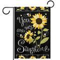 YATELI Garden Yard Flag 28x40 inch Double Sided,You are My Sunshine Flowers,Seasonal Farmhouse Yard Flag Banners for Patio Lawn Outdoor Home Decor