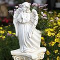 Praying Angel Cherub Wings Garden Planter Flowerpot Cement Round Flower Seed Herb Pot Planter Garden,A 49cm