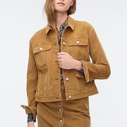 J. Crew Jackets & Coats | J.Crew Corduroy Jean Jacket Coat | Color: Tan | Size: M
