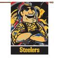 Pittsburgh Steelers 29'' x 43'' Double-Sided Justin Patten House Flag