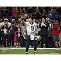 Drew Brees New Orleans Saints Unsigned NFL Career Passing Record Game Photograph