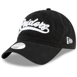 Women's Las Vegas Raiders New Era Black Tail Sweep Team 9TWENTY Adjustable Hat