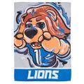 Detroit Lions 12'' x 18'' Suede Justin Patten Flag with Pole