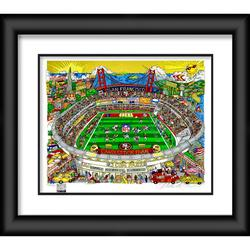 """San Francisco 49ers Fanatics Authentic Framed 23"""" x 27"""" Artist Enhanced Deluxe Three-Dimensional Art Print Hand Painted and Signed by Charles Fazzino"""