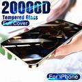 Protecteur d'écran pour iPhone, film à couverture complète en verre trempé 20000D, pour modèles 12