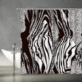 "AMFD Zebra Shower Curtain Black and White African Wild Animal Zebra Skin Print Stripes Abstract Creative Modern Art Print Home Fabric Bathroom Curtains Decor Set Include Hooks,(70"" WX70 H)"