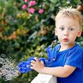 Gatling Bubble Machine 2021 - Bubble Maker Machine Cool Toy Automatic Bubble Machine, Electric Bubble Maker Toy, 8-Hole Huge Amount Bubble Maker, Newly Outdoor Toys for Boys and Girls (Blue)