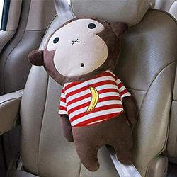 Seatbelt Pillow For Kids,car Seat Belt Covers Child Seat Head Rest Support Shoulder Pad, Car Pillow Seat Belt Cushion Kids Seatbelt Pillow, Seat Strap Car Pillows Adjuster For Children Baby (monkey)
