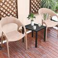 Square Patio Coffee BistroTable,Fiudx End Table Black Small Metal Side Tables Chaise Lounge Table Metal Square SideTable Outdoor Side Square End Small Side End Outdoor Furniture Table