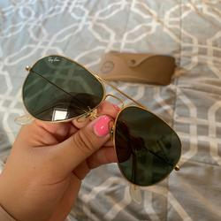 Ray-Ban Accessories | Aviator Ray Bans Rayban | Color: Gold | Size: 55-14
