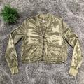 Free People Jackets & Coats | Free People Olive Satin Bomber Jacket Size Small | Color: Green | Size: S