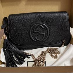 Gucci Bags   Gucci Soho Leather Shoulder Bag   Color: Black   Size: Os
