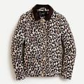 J. Crew Jackets & Coats | J.Crew Leopard Print Barn Jacket (M) | Color: Black/Brown | Size: M