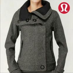 Lululemon Athletica Jackets & Coats   Lululemon Tweed Audrey Bombermoto Jacket   Color: Black/Gray   Size: 6