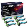 6-Pack Compatible AL-100DR Laser Drum Unit Used for Sharp AL1251 AL1340 AL1631 AL1641CS AL1642CS Printer (Black, High Yield)