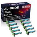 10-Pack Compatible AL-100DR Laser Drum Unit Used for Sharp AL1251 AL1340 AL1631 AL1641CS AL1642CS Printer (Black, High Yield)