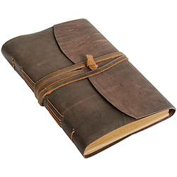 """Leather Journal Notebook Gifts(5x7"""") - Rustic Handmade Leather Bound Journals for Men and Women Leather Notepad Diary, Pocket Diary To Write In"""