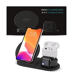 MAICHARGING Gen 2 Charging Station - Charging Pad for DangoBuds   Charging Station for Multiple Devices   Charging Dock for Smart Phone and iWatch   Wireless Charging Station for Apple Products