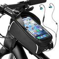 YEHOBU Bike Phone Front Frame Bag, Waterproof Mountain Bike Phone Handlebar Mount Top Tube Bag Holder Case Cycling Accessories Pouch for iPhone 11/12XS Max XR Fit 6.5 (Black)…