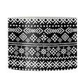 "AFPANQZ Vintage Aztec Design Drum Lamp Shade for Table Lamp Cover Floor Lamps Shade Living Room Bedroom Decorative Shades 17"" x 10.4"" Replacement Drum Uno Lampshade for E27 Black White"