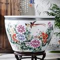 Flower Pots Outdoor Garden Planters, Ceramic Fish Tank, Goldfish Tortoise Tank, Water Lily, Bowl Lotus, Flower Pot, Fish Tank, Porcelain Tank (Color : B)
