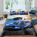Racing Car 3D Printed Duvet Cover Boys Bedding Set Single Double Pillowcase Queen King Size Comforter Set Nordic Luxury Style Teen Twin Full 3 Piece The Comfy Bedding Sets