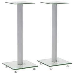 FAMIROSA Universal Desk Speaker Stand for Studio Monitors, Table Top Monitor Speaker Stands (Pair) Hi-Fi Loudspeakers