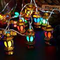 30 LEDs Ramadan Eid String Light Muslim Eid Lanterns String Lights Mubarak Islam Decorative Lantern Lights String 14.8 Ft Battery Operated Lights String for Muslim Islamic Home Garden Decoration