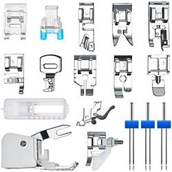 Sewing Machine Presser Feet Sewing Machine Walking Kit Foot Multi-Function Household Sewing Machine Accessories and Sewing Machine Double Needles -18Pcs/Set
