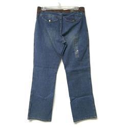 Ralph Lauren Jeans | Ralph Lauren Jeans Suede Leather Trim Denim Jeans | Color: Blue/Brown | Size: 10