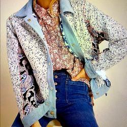 Anthropologie Jackets & Coats   Denim Reversible Patchwork Jacket   Color: Blue   Size: Xs
