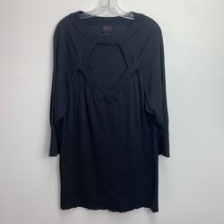 Torrid Sweaters   Plus Size Torrid Sparkly Peek-A-Boo Sweater Size 4   Color: Black/Silver   Size: 4x