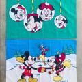 Disney Bedding   Set 2 Mickey Minnie Pillowcases Vintage Disney Usa   Color: Blue/Green   Size: Standard