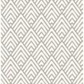 "Brewster Home Fashions Symetrie Vertex Diamond 33' L x 20.5"" W Wallpaper Roll in Gray/White   Wayfair 2625-21825"