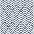 "Brewster Home Fashions Symetrie Vertex Diamond 33' L x 20.5"" W Wallpaper Roll in White/Blue   Wayfair 2625-21828"