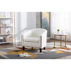 "Red Barrel Studio® Jacelyn 25.2"" Wide Tufted Barrel Chair in Black/White, Size 27.95 H x 25.2 W x 29.13 D in   Wayfair"