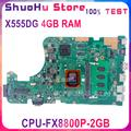 KEFU X555DG carte mère pour ASUS X555DA A555YA X555QG X555YI ordinateur portable carte mère