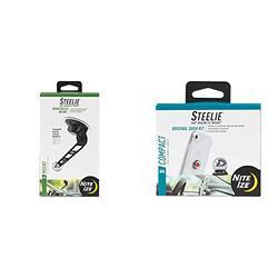 Nite Ize Original Steelie Windshield Mount - Additional Car Windshield Mount for Steelie Magnetic Mounting System, Black & Original Steelie Dash Mount Kit - Magnetic Car Dash Mount for Smartphones