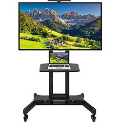 """TV Cart Stand Rolling Cart LCD Portable TV Cart with Wheels for LCD LED Plasma Flat Screen Panel Bedroom Living Room Meeting Room 32"""" to 65"""""""