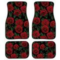 Rose Red Car Floor Protector Garage Mat Floor Mat Keep Your Car Floors Clean 4 Piece Heavy Duty Rubber Car Floor Mat