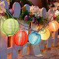 8.5FT Summer Multicolor Lantern Lights with 10 Mini Lantern Outdoor String Lights, Hanging Lanterns String Light for Indoor/Outdoor Use Wedding Backyard Cafe Garden Terrace Party Decoration