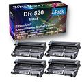 4-Pack (Black) Compatible MFC-8370, 8480DN, 8680DN, 8690DW, 8890DW Printer Drum Unit Replacement for Brother DR520 (DR-520) Drum Kit