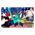 5D Diamond Painting,Independence Day DIY Decoration 5D Diamond Painting Full of Diamonds Machi Eagle DIY Diamond Embroidery Decorative Painting,July 4th Patriotic DIY Decoration Holiday Gift