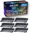 6-Pack Compatible Drum Unit (Black) Replacement for Brother DR520 (DR-520) Drum Kit use for Brother HL-5340D, 5350DN, 5370DW, 5370DWT Printer