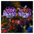 QSZX Garden Lights, Solar Outdoor Butterfly Lights, Solar Garden Lights Monocrystalline Silicon Solar Panels Garden Ornaments Outdoor Suitable for Outdoor Gardens and Courtyards. Elegant Design