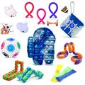 Fidget Pack Sensory Toys Fidget Toy Set Push Pop Bubble Fidget Sensory Toy Fidget Toys Fidget Box Pop Fidget Toy Anxiety Relief Toys Stress Relief Toy Squeeze Toys for Kids and Adults(14 Pack)