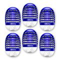 MOSKILA Bug Zapper- Electronic Fruit Fly Traps Indoor -Bug Zapper Indoor Outdoor Mosquito Killer with Blue Light Non-Toxic Silent Effective Mosquito Insects Killer Lamp for Backyard Patio (6 Packs)